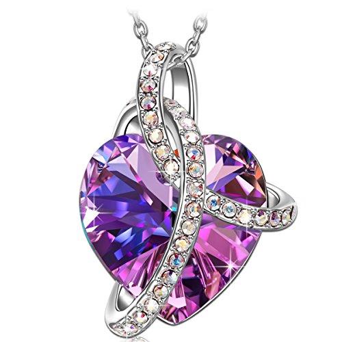 Love Heart Necklace Pendant with Swarovski Crystals - Amazon $12.49AC