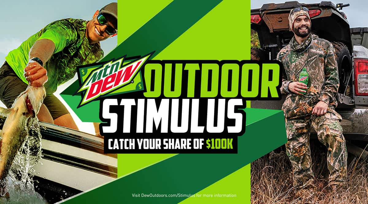 Get $20 From MTN Dew If You Have A 2019-2020 Hunting Or Fishing License Starts 07/23/2020 10AM ET First 100 Every Day For 50 Days