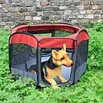 Favorite 48-inch Portable Puppy Dog Playpen/Foldable Nylon and Mesh Dog Exercise Pen Kennel $39.99 + fs @amazon.com