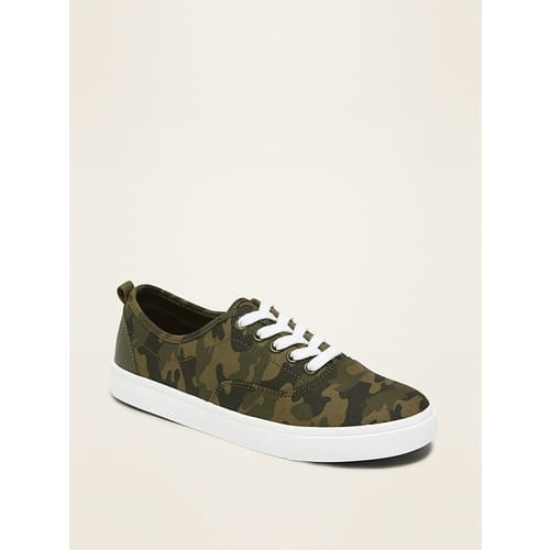 Old Navy Lace-Up Canvas Sneakers for Boys (3 Colors) $9.08