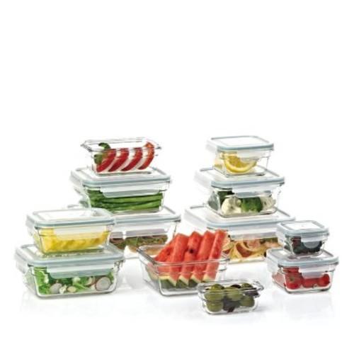 Glasslock 24-Piece Glass Food Storage Set  $19.98