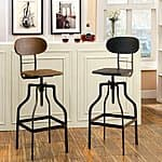 Furniture of America Damien Industrial Swivel Bar Chair $116.71 + ship @overstock.com
