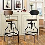 Furniture of America Damien Industrial Swivel Bar Chair $116.71 + ship @overstock.com