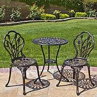 BestChoiceproducts Outdoor Patio Furniture Tulip Design Cast Aluminum Bistro Set in Antique Copper $  114.95 + fs @sears.com