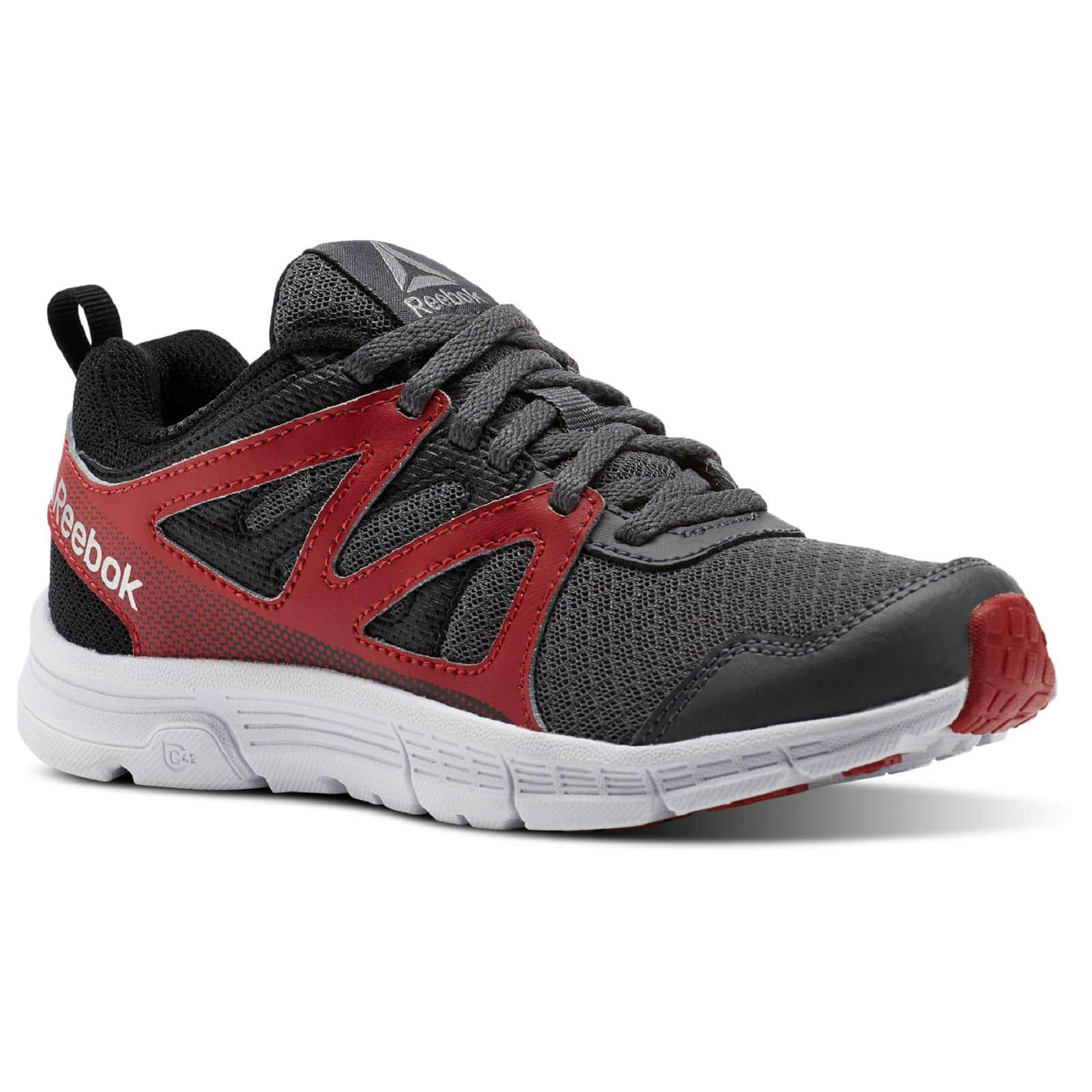 2dd6829e7 Reebok Boys' Run Supreme 2.0 Running Shoe - Gray/Red/Black $31.79 ...