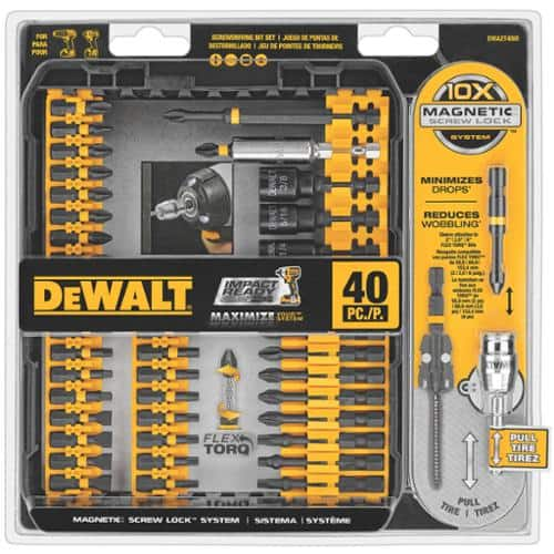 DEWALT DWA2T40IR IMPACT READY FlexTorq Screw Driving Set, 40-Piece $17.99