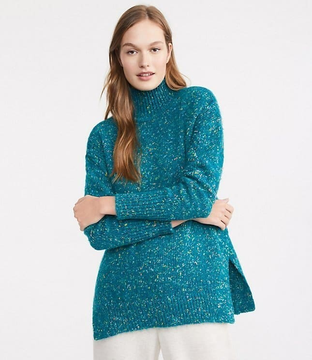 Lou & Grey Sprinkle Turtleneck Tunic Sweater $39.75