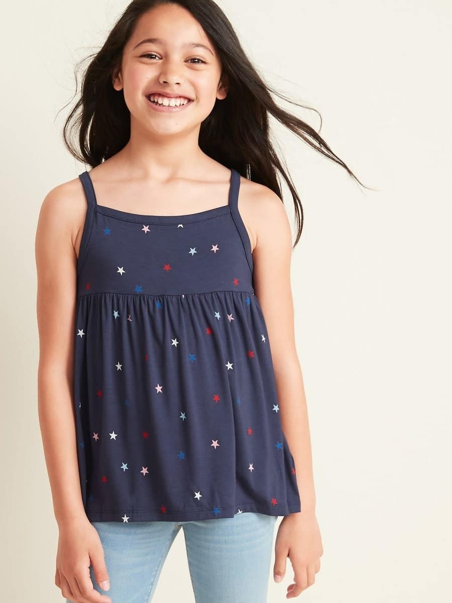 Patterned Jersey Sleeveless Top for Girls $6.97