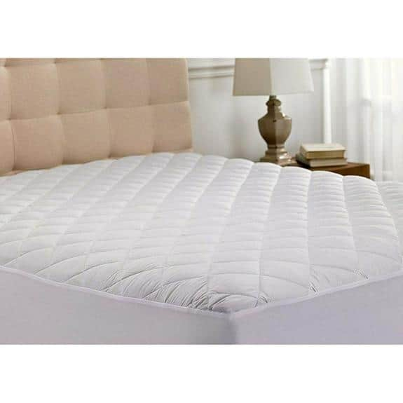 Ultra Soft Quilted Hypoallergenic Mattress Pad Protector $19.99