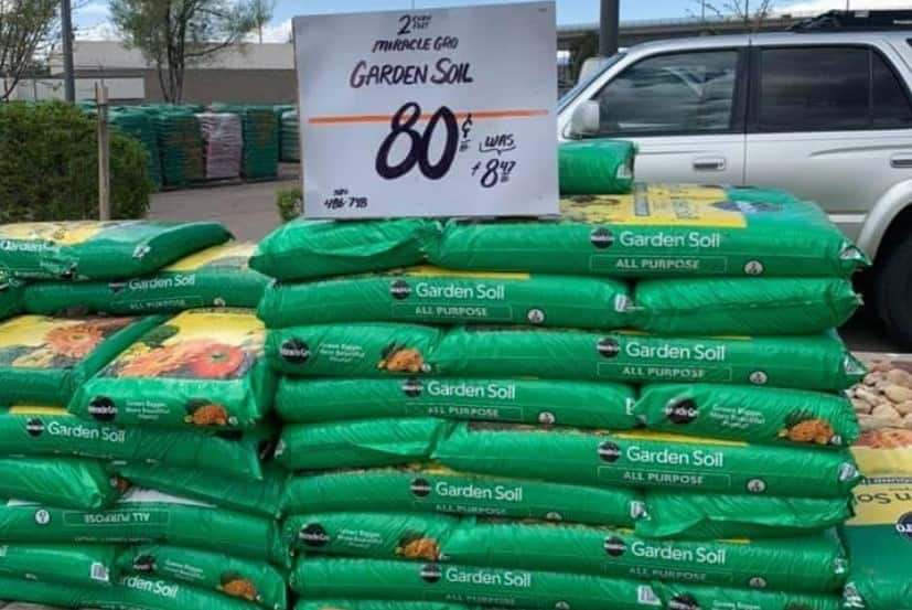 YMMV - Select Home Depot Stores: 2 cu. ft. Miracle-Grow All Purpose Garden Soil for In-Ground Use  - Normally $8.47 - On Clearance @ $0.80 ea