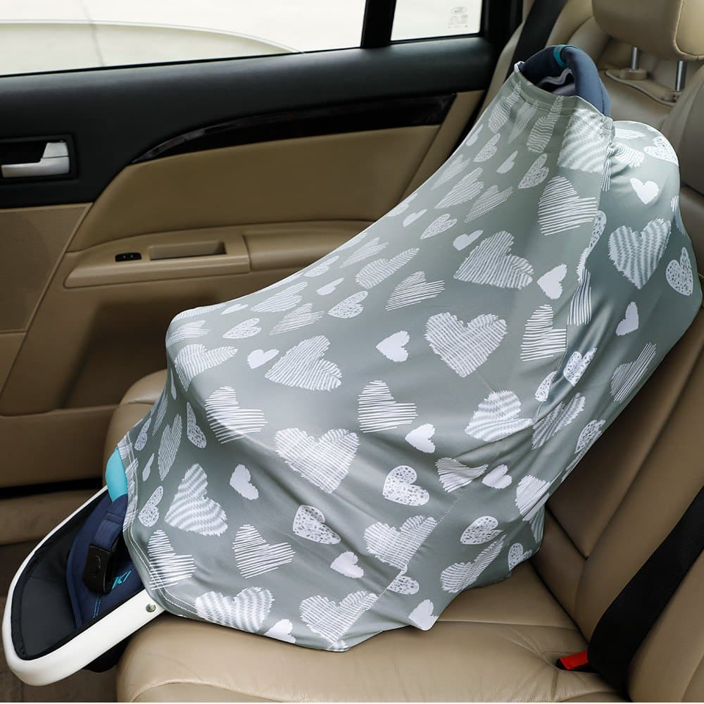 Nursing Cover - Breastfeeding Cover Carseat Canopy for Baby Infant, Car Seat Covers for Babies by YOOFOSS $4.99