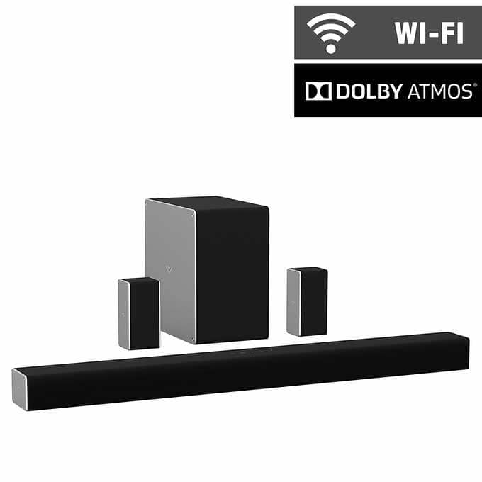 """Vizio SB36512-F6 36"""" 5.1.2 Home Theater Sound System and Wireless Subwoofer with Dolby Atmos $289.99"""