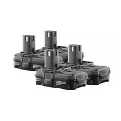 RYOBI ONE+ 6-Port Charger with ONE+ 18 Volt 1.5ah Lithium-Ion Compact Battery 4-Pack $120 + Shipping