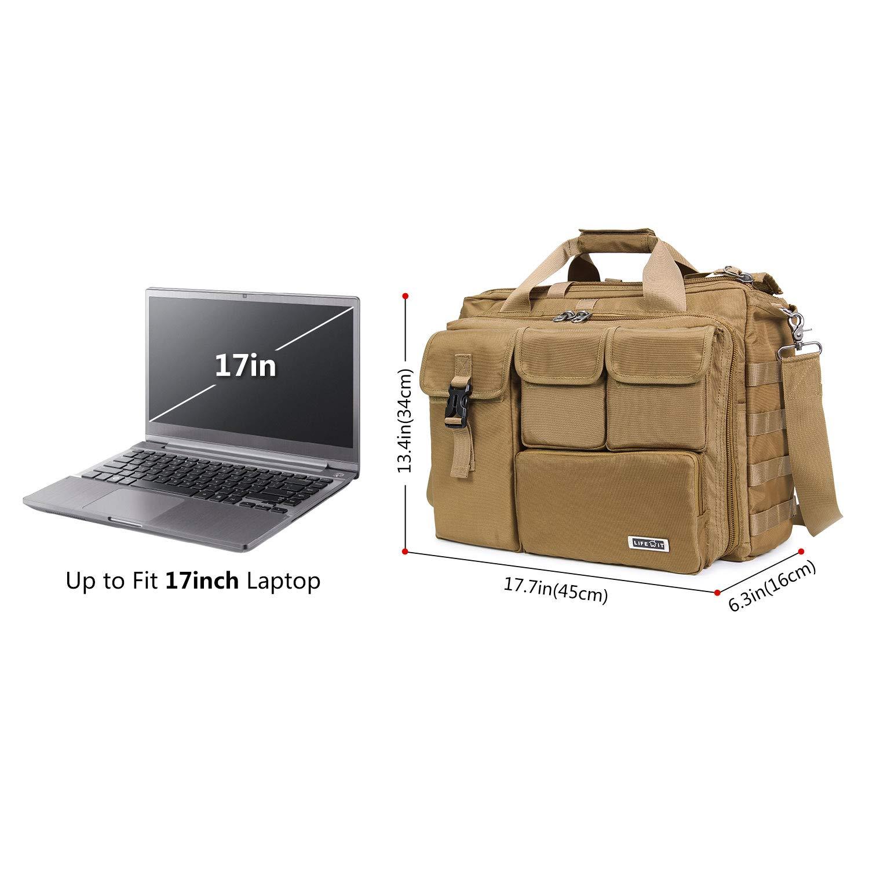 "17"" Men's Military Laptop Messenger Bag Multifunction Tactical Briefcase Computer Shoulder Handbags $31.19 + F/S"