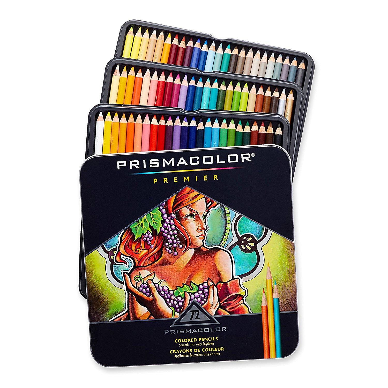 Prismacolor Premier Colored Pencils, Soft Core, 72-Count [72-Pack, Colored Pencils] $21