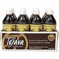 Amazon Deal: Tejava 100% All Natural Unsweetened Iced Tea, 16.9 Fl Oz (Pack of 12) for $13.60 with 15% S&S @ Amazon