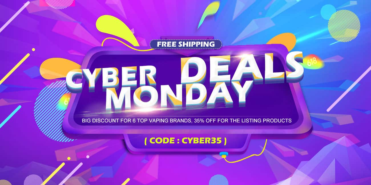 Cyber Monday Blowout, 35% off for All listing e-cigar vaping products, free shipping @ SourceMore