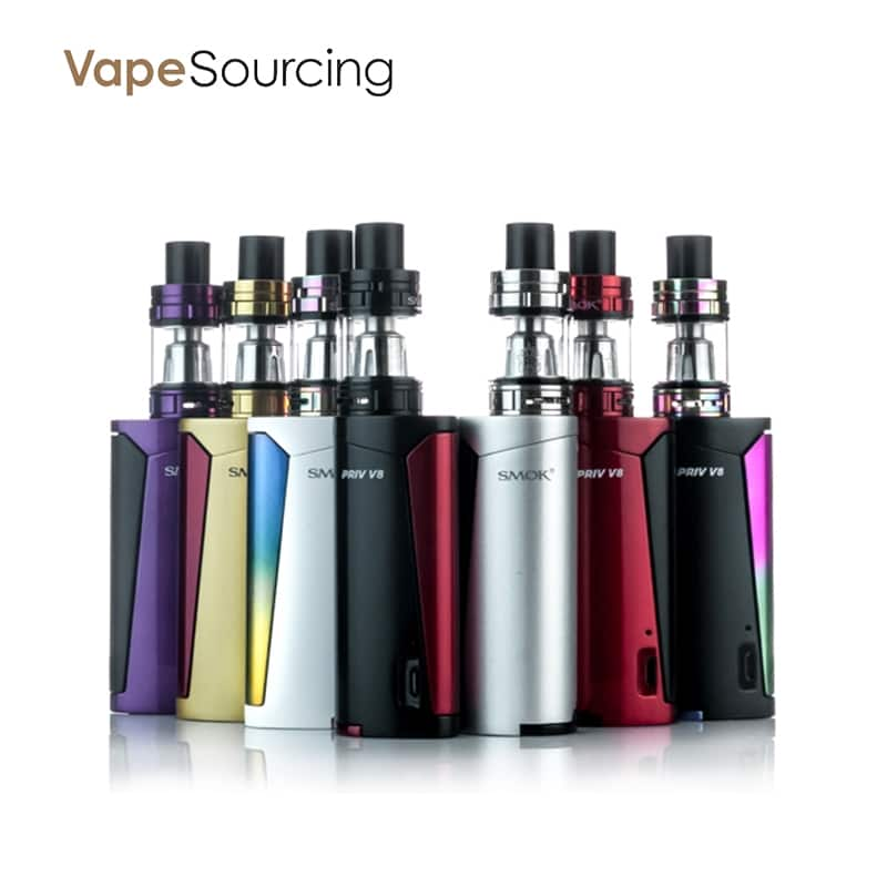 Smok Priv V8 Starter Kit for e-cigar vaping $24.40 AC @ VapeSourcing