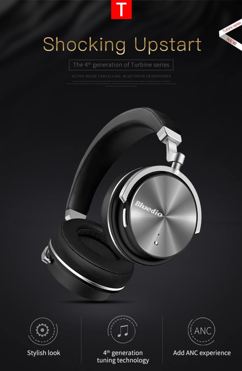 Bluedio T4 Active Noise Canceling Bluetooth Headphones  $30.99 AC @ GearVita
