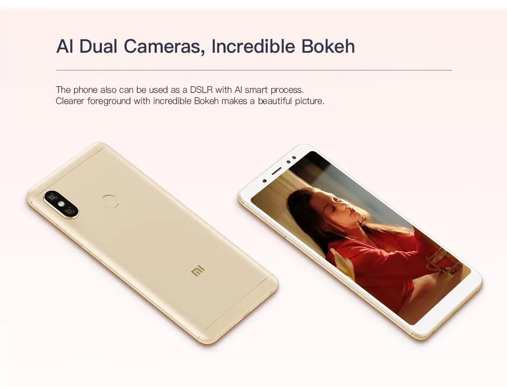 Xiaomi Redmi Note 5 5.99 inch Smartphone (Global Version) 3GB 32GB  $183.99 AC @ GearVita