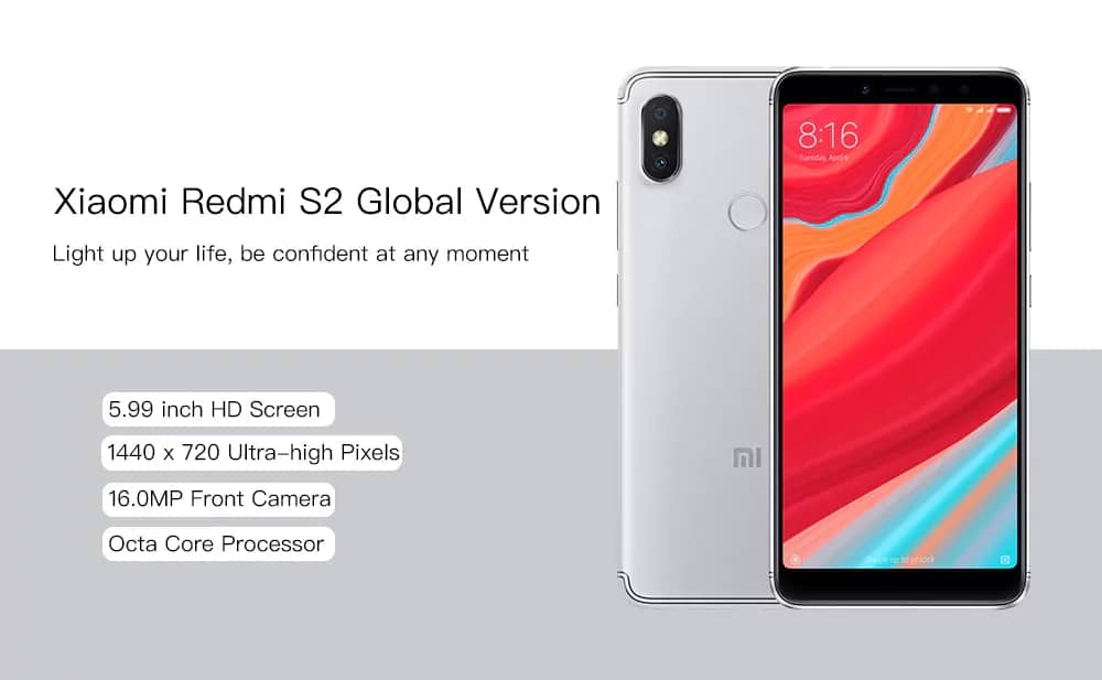 Xiaomi Redmi S2 5.99 inch 4G Phablet 3GB 32GB official global version $156.99 AC @ GearVita