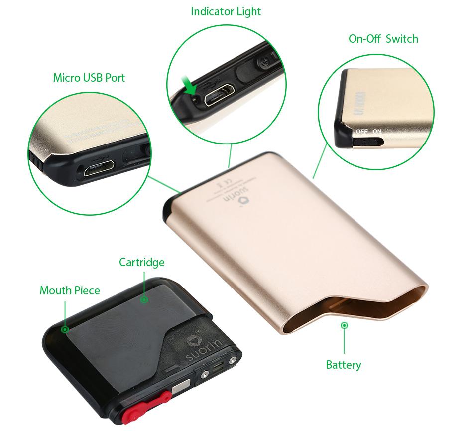 Suorin Air Starter Kit 400mAh for e-cigar vaping $16.90 @ VapeSourcing