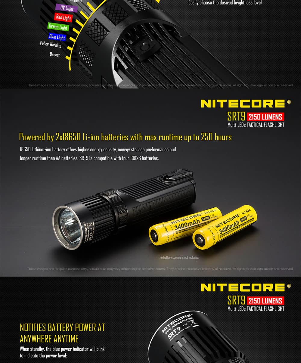 Nitecore SRT9 SmartRing Tactical LED Flashlight XHP50 2150LM  $87.79 w/ Free Shipping AC @ GearVita