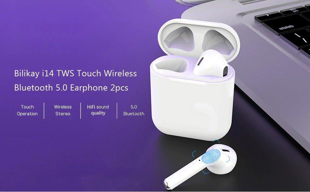 e33039af234 Bilikay i14 TWS Touch Wireless Earphones Bluetooth 5.0 $19.48 shipped AC @  GearVita