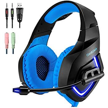 ONIKUMA Gaming Headset with Mic & USB (Blue or Red) - 50% Off @ Amazon $12.99 AC