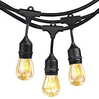 SHINE HAI 48ft LED ($42 AC) OR Halogen ($30 AC) Vintage Style Outdoor String Lights (Weatherproof) @ Amazon $29.99