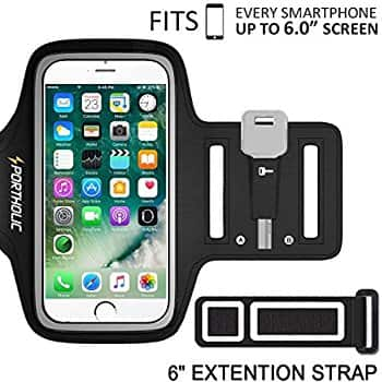 """iPhone 7 Plus Armband, Sport Armband Case for up to 6"""" Smartphone @ Amazon $3.99 AC + FS w/ Prime"""