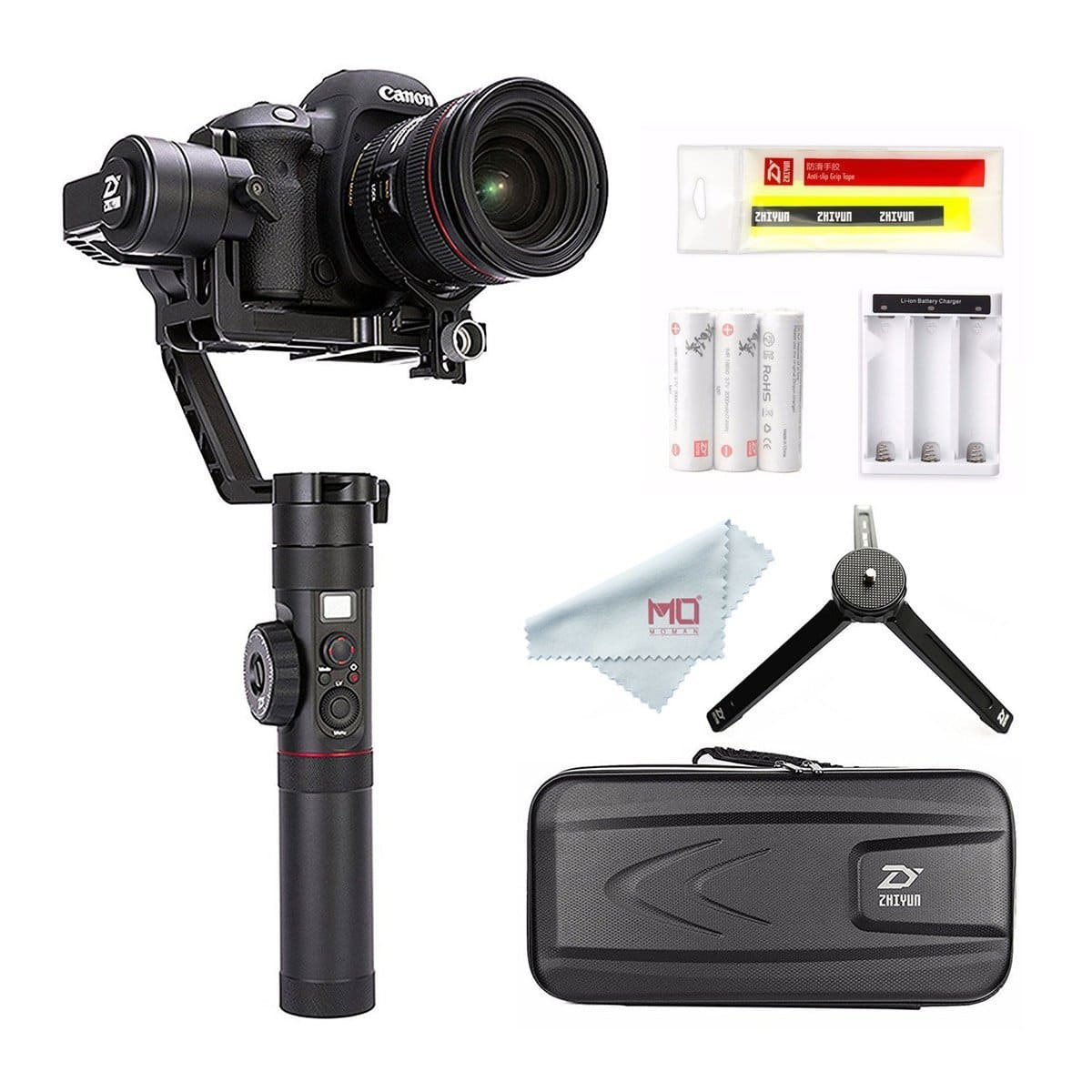 Crane 2 3-Axis Gimbal Stabilizer for DSLR Camera up to 7 Lb, Featuring Follow Focus for Canon, 18 Hrs Run-time, OLED Display  $639.2