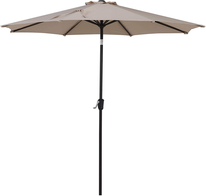 Grand Patio 9 FT Enhanced Aluminum Patio Umbrella, UV Protected Outdoor Umbrella with Auto Crank and Push Button Tilt Amazon Free Shipping Normal $59.99 Final $29.99 50% Off Coupon