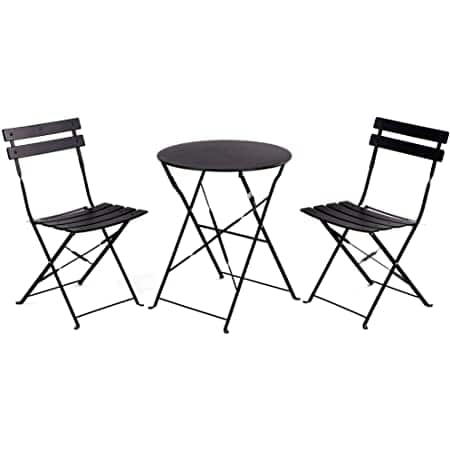 Grand Patio Premium Steel Patio Bistro Set, Folding Outdoor Furniture Set, 3 Piece Set of Foldable Patio Table w Chairs, Your Color Amazon Prime 50% Off $54.99 - $59.99 Shipped