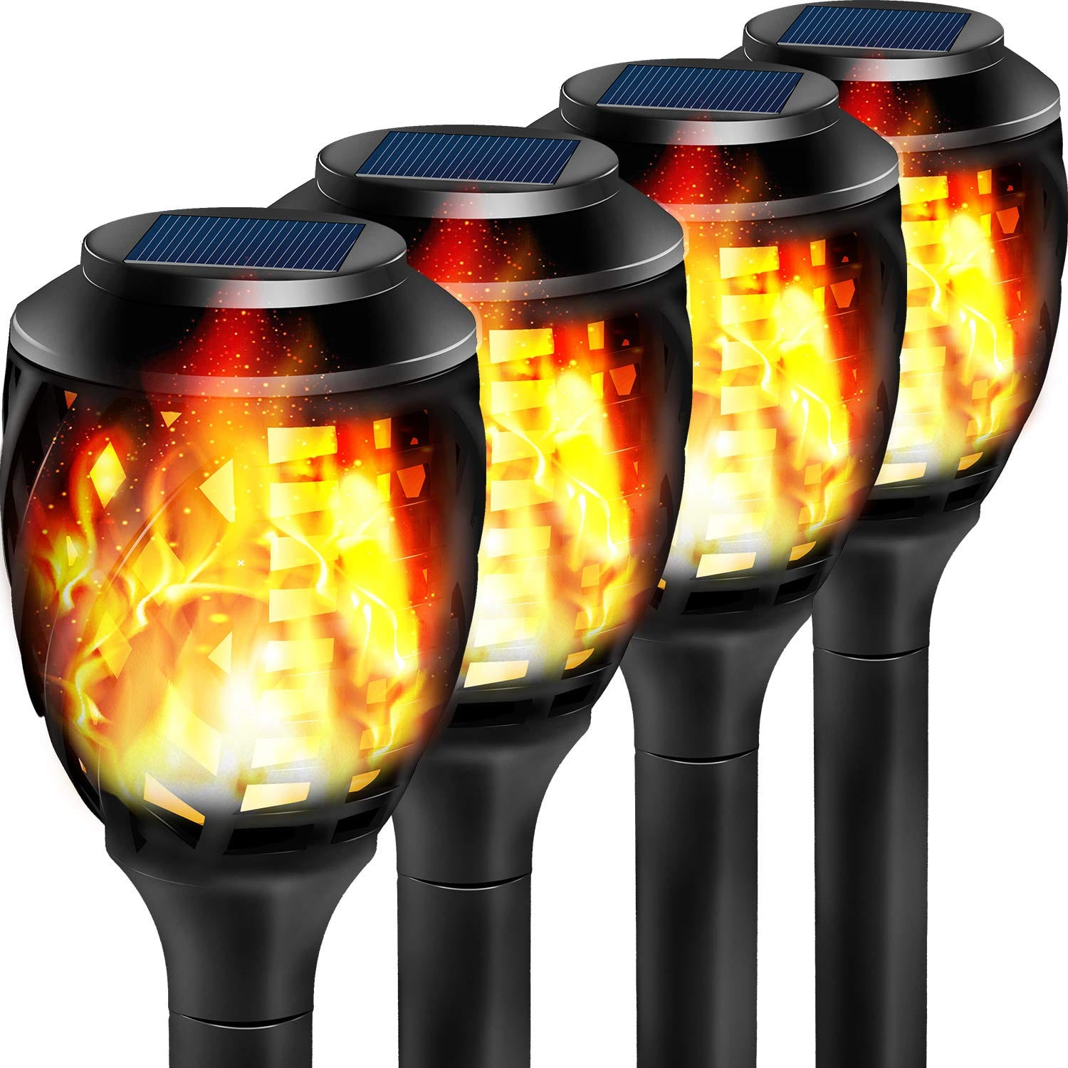 Grand Patio Solar Lights Upgraded Waterproof Flickering Flames Security Torch Light Outdoor Solar Spotlights Landscape Decoration Dusk to Dawn, Amazon 40% off $14.99 to $41.99