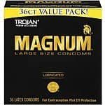 Trojan Condom Magnum Lubricated, 36 Count  $14.07 Prime Or Less with S&S Amazon