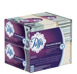24-Pack 124-Ct Puffs Ultra Soft & Strong Facial Tissues $16.71 Amazon