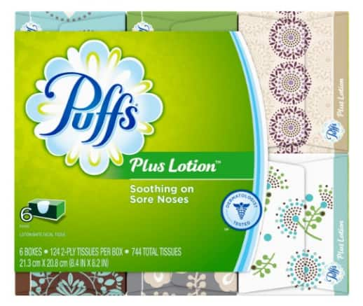 Puffs Plus Lotion Facial Tissues, 24 Family Boxes, 124 Tissues per Box  $31.96 Shipped Prime