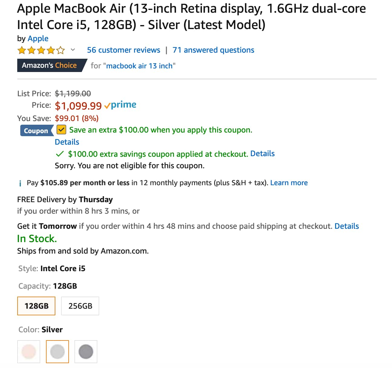 2018 New Apple MacBook Air (13-inch Retina display, 1 6GHz