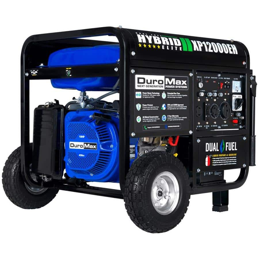 DuroMax 12000-Watt Gasoline/Propane Portable Generator with Oem Engine Lowes $869.00  33% OFF  SHIPPED