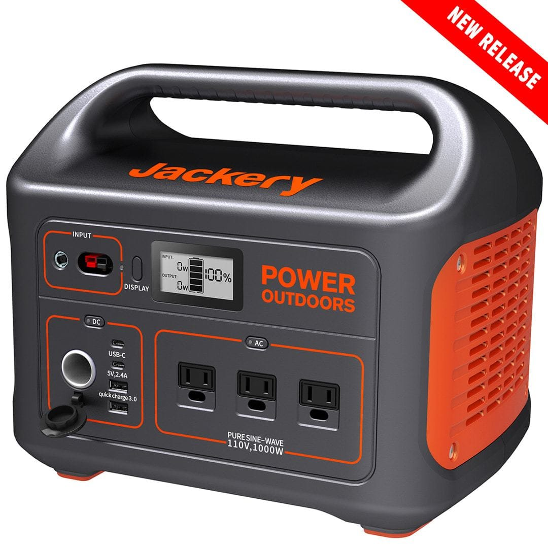 Jackery Portable Power Station Explorer 1000 with 3x110V/1000W AC Outlets, for Outdoor RV/Van Camping, Emergency Fathers Day $100 Off Amazon Prime $899.99