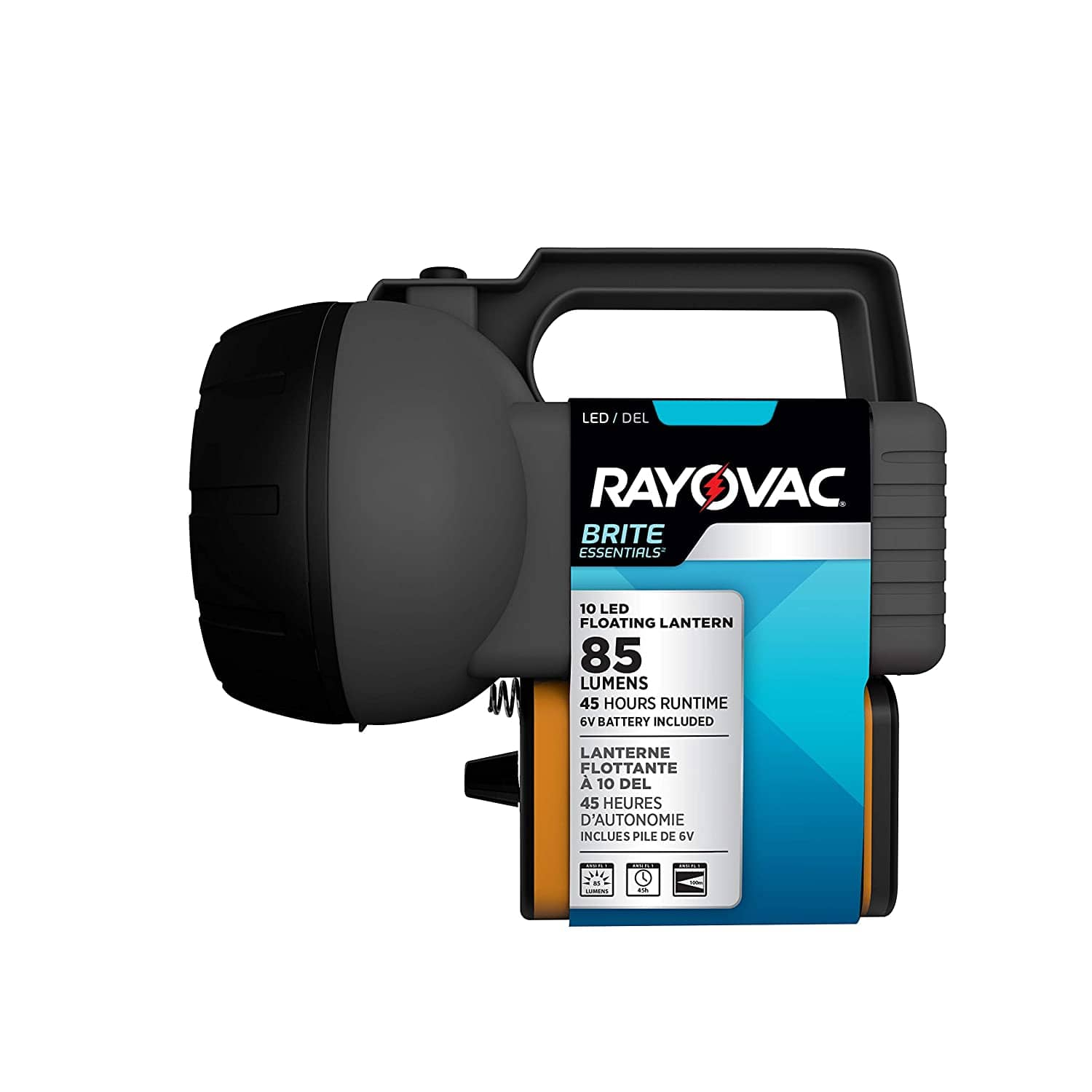 RAYOVAC Floating LED Lantern Flashlight, 6V Battery Included, Superb Battery Life, Floats For Easy Water Recovery, Emergency Light $4.92 Shipped Prime 50% off