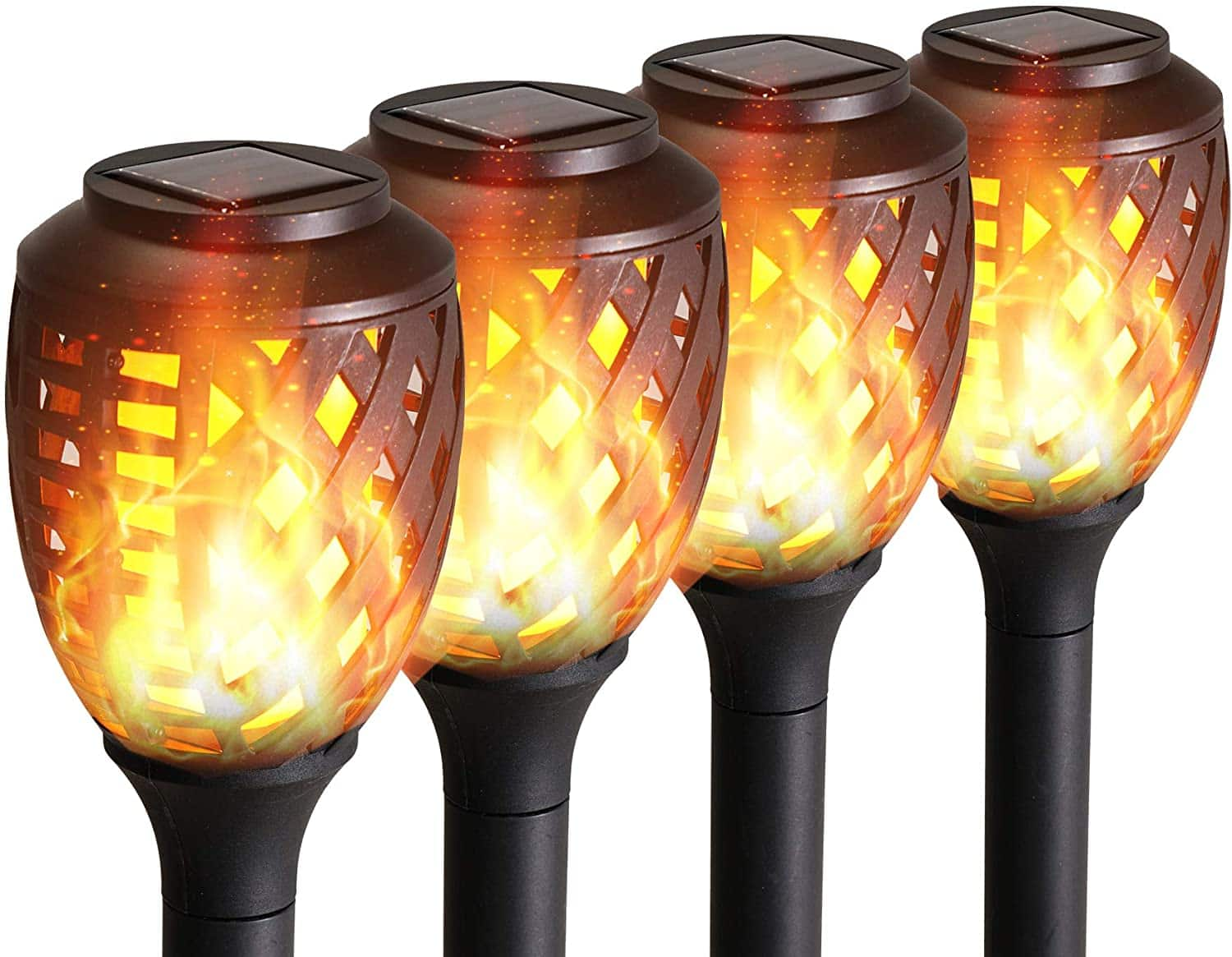 Grand Patio Solar Lights Upgraded Waterproof Flickering Flames Security Torch Light Outdoor Solar Spotlights Landscape Decoration Dusk to Dawn, Amazon 50% off $12.99 Shipped
