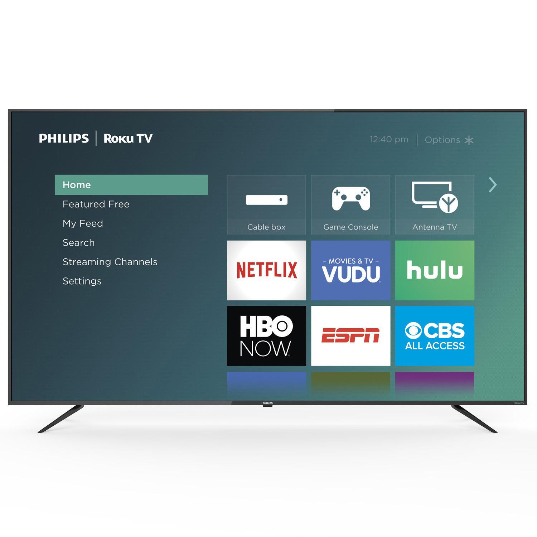 "Philips 75"" Class Roku Smart 4k UHD LED HDTV w/ HDR - 75PFL4864/F7 $599.99 Shipped Samsclub.com"
