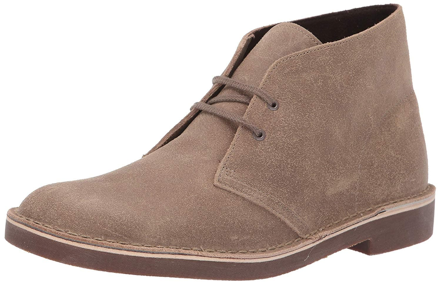 9617aecee4f CLARKS Men's Bushacre 2 Chukka Boot, Taupe Distressed Suede, 105 M ...