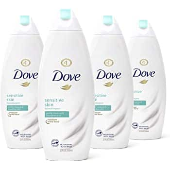Dove Body Wash For Softer Skin Sensitive Skin Hypoallergenic and Sulfate Free Body Wash, 22 Fl Oz, Pack of 4 $13.44