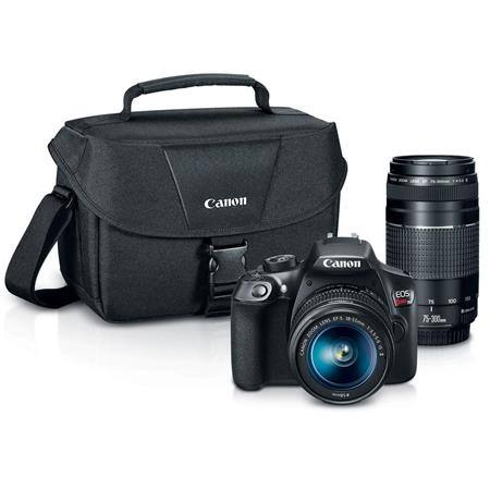 Canon - EOS Rebel T6 DSLR Camera with EF-S 18-55mm IS II and EF 75-300mm III lens $399