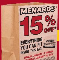15% off bag sale @ Menards + Home Depot - Slickdeals net