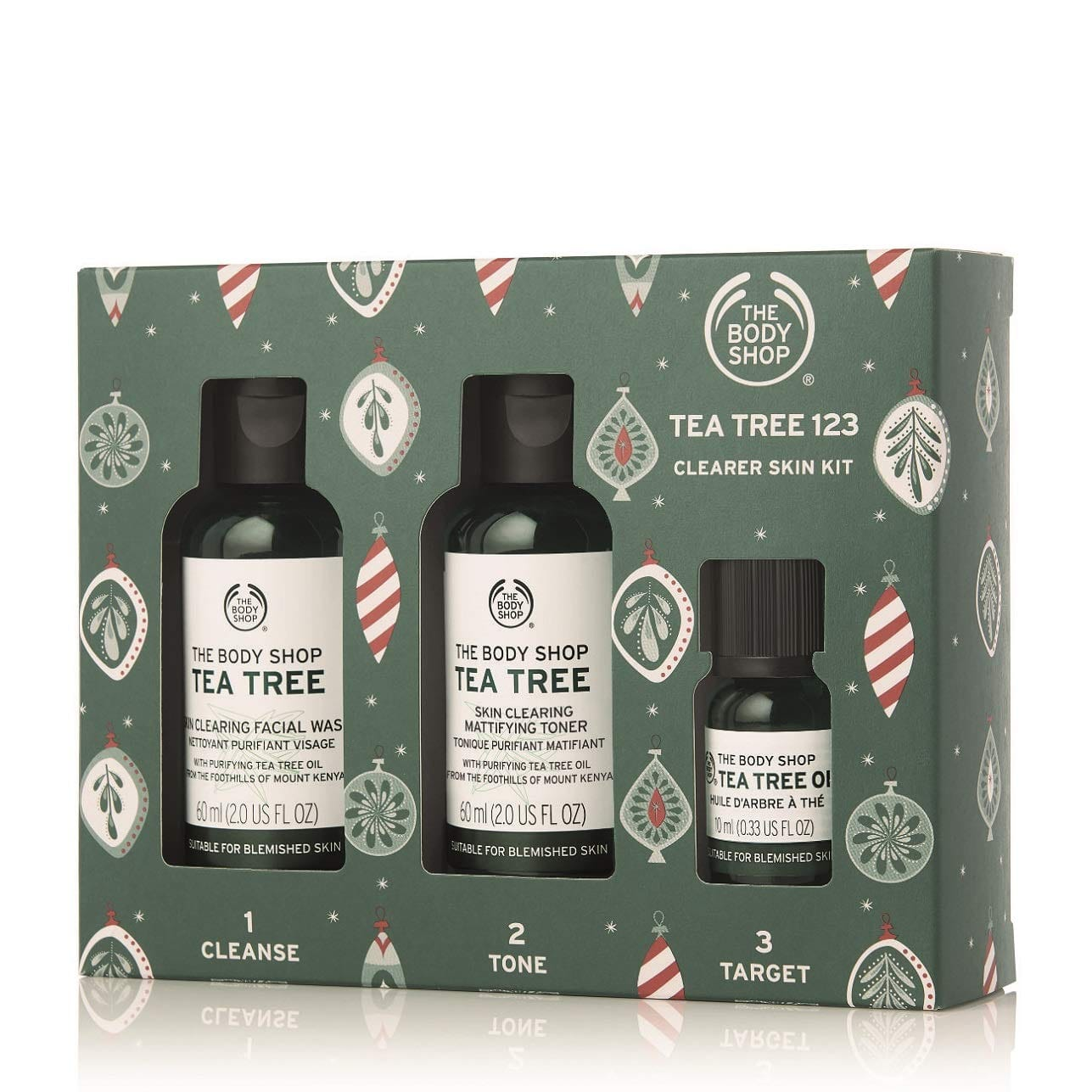 The Body Shop Tea Tree Gift Set, Simple 3-Step Routine With Tea Tree Face Wash, Toner, Oil $10 FS w/ Prime
