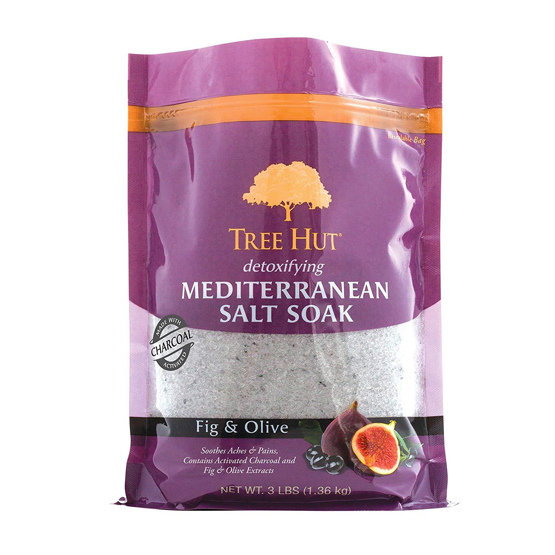 3x Tree Hut Detoxifying Mediterranean Salt Soak Fig & Olive, 3Ibs, Ultra Hydrating Epsom for Nourishing Essential Body Care 3 for $10.09 FS w/ Prime